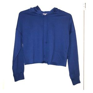Royal Blue Cropped Hoodie